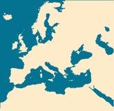 Correspondencia en blanco de Europa. libre illustration