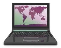 Correspondencia en la computadora portátil Foto de archivo libre de regalías