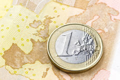Correspondencia euro Imagen de archivo libre de regalías