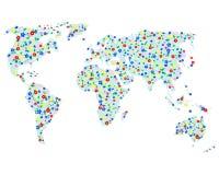 Correspondencia floral del mundo. Imagenes de archivo