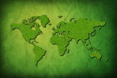 Correspondencia global con textura de la hierba stock de ilustración