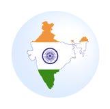 Correspondencia india con el indicador Imagen de archivo libre de regalías