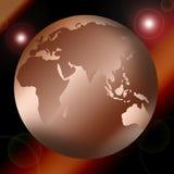 Correspondencia o globo de mundo Foto de archivo libre de regalías