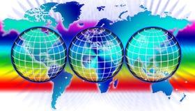 Correspondencia o globo de mundo ilustración del vector