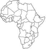 Correspondencia política de África Imágenes de archivo libres de regalías