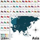 Correspondencia política de Asia Imagen de archivo libre de regalías