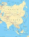 Correspondencia política de Asia Fotos de archivo libres de regalías