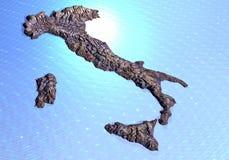 Correspondencia rocosa de Italia Imágenes de archivo libres de regalías