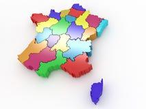 Correspondencia tridimensional de Francia ilustración del vector
