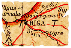 Correspondencia vieja de Riga, Latvia Fotos de archivo