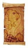Mapa viejo del tesoro fotos de archivo