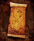 Mapa viejo del tesoro Imagenes de archivo