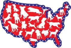Correspondencia y perros de los E.E.U.U. libre illustration