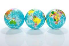 Correspondencias del globo del mundo foto de archivo libre de regalías