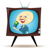 Correspondent on the TV Royalty Free Stock Photo