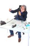 Corretor da bolsa no telefone Imagem de Stock Royalty Free