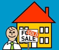 Corretor de bens imobiliários Ilustração Royalty Free