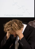 Corretor de Depresed Fotografia de Stock
