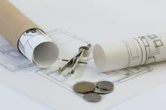 Corretor de imóveis, colaborador, indústria da construção civil Imagem de Stock