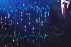 Corretor e conceito da economia imagens de stock royalty free