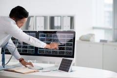 Corretor financeiro foto de stock