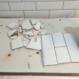 Correzione rotta delle mattonelle Fotografie Stock
