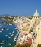 Corricella, ilha de Procida, Italy fotos de stock