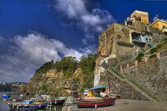 The Corricella : the oldest fishing village of Procida island Royalty Free Stock Photography