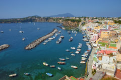 Corricella, Procida Isle, Italy Royalty Free Stock Images