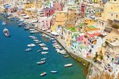 Corricella, Procida Isle, Italy Stock Photography