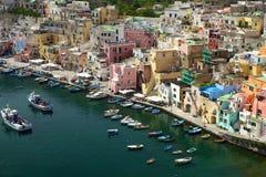 Corricella - Procida Nápoles Fotos de archivo libres de regalías