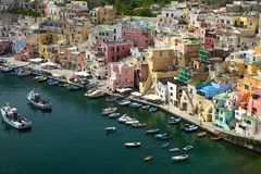 Corricella - Procida.Naples. Royalty Free Stock Photos