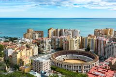Corrida à Malaga Espagne Photo libre de droits