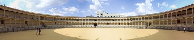 Corrida arena. In south Spain, Ronda town Royalty Free Stock Photography