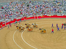During corrida bullfighting Stock Photos