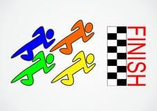 Corrida da competição do logotipo fotografia de stock