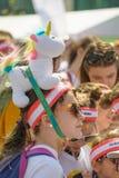 A corrida da cor Fotografia de Stock Royalty Free