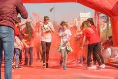 A corrida da cor Foto de Stock