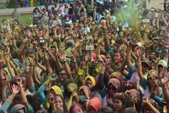 Corrida 2017 da cor de Kudus Imagens de Stock Royalty Free