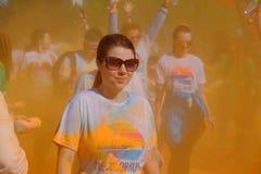 A corrida 2017 da cor em Bucareste, Romênia Fotos de Stock Royalty Free