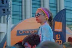 A corrida 2017 da cor em Bucareste, Romênia Foto de Stock