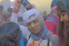 A corrida 2017 da cor em Bucareste, Romênia foto de stock royalty free