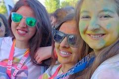 A corrida 2017 da cor em Bucareste, Romênia imagem de stock royalty free