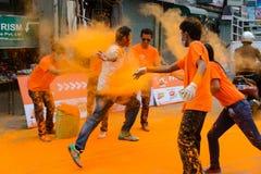 A corrida 2014 da cor em Kathmandu foto de stock