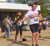 A corrida da cor, zonas das docas de Londres, em setembro de 2014 Fotografia de Stock Royalty Free