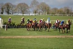 Corrida de cavalos irlandesa Fotos de Stock Royalty Free