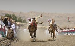 Corrida de cavalos omanense tradicional Fotografia de Stock Royalty Free