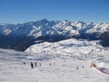 Corrida de esquí Foto de archivo