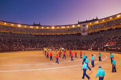 Corrida de la arena de la tauromaquia en Madrid España Imagen de archivo libre de regalías