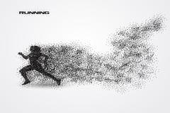 Corrida de uma silhueta da partícula Imagens de Stock